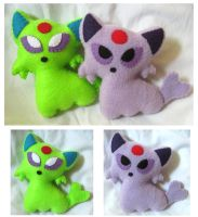Espeon Plush Set by P-isfor-Plushes