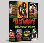 Ultimate Halloween Party Flyer Bundle 6 in 1 by majkolthemez