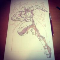 Commish 108 WIP 03 by RobDuenas