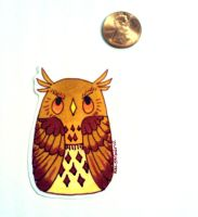 Golden Owl Sticker by Ukeaco