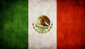 Mexico Grungy Flag by think0