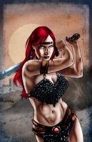 Barbarian Woman by artofdawn