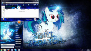 Vinyl Scratch Wub the bass! V2 Windows 7 theme by Matniky