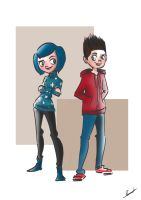 Coraline and Norman by Violet1202