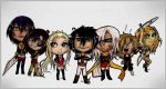 Chibis .Team Solaris. by Cleox