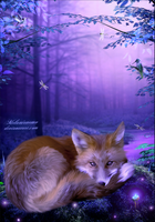 The Lonely Fox by Melanienemo