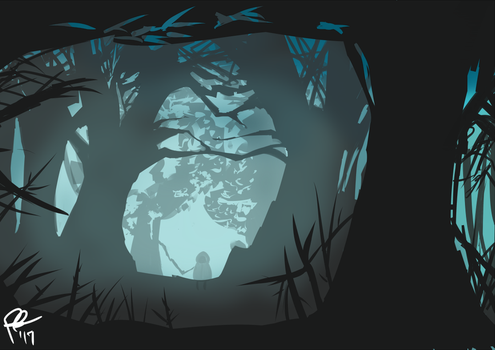 Spoopy Forest by Exekiella