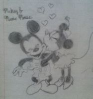 Mickey and Minnie Love by Rose279