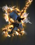 Guitarist on fire by ArtoriusGothicus