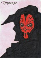 Sketch Card - Darth Maul by SpaceHeroStudios
