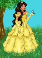 Belle as played by Jasmine by vchangirl
