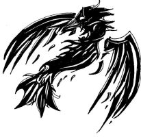 CROW - Tattoo Design by CelticMagician