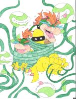 Bowser Tickle Torture Like Father Like Son by KnightRayjack