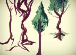 speed drawing trees by Freedomlastsforever