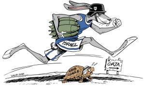 Gaza:The Rabbit and the Turtle by Latuff2