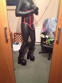 Latex Catsuit 1 by thomps4991