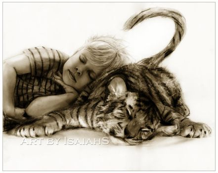 Cat Naps: Calvin and Hobbes by IsaiahStephens