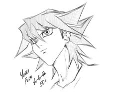 Yusei Fudo Sketch by Horoko