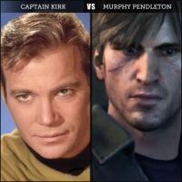 Silent-Trek Murphy VS Captain Kirk by Samantha-Bartlett