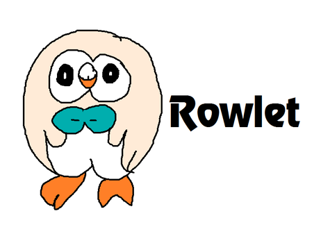 Rowlet from Pokemon Sun and Moon by MikeEddyAdmirer89