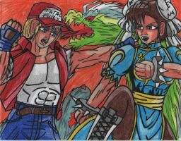 Chun Li vs Terry Bogard by carlos1976