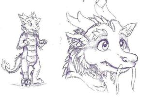 Asian dragon fursuit concept by DragonCid