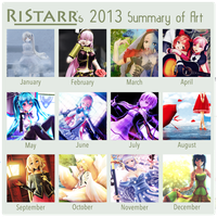 My 2013 summary of art by RiStarr