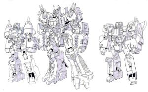 Scorponok, Apeface, and Snapdragon by TGping