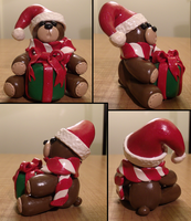 Christmas Bear Figure by HideTheDecay