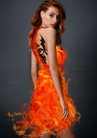Fire Dress 1 by LV-deviantart