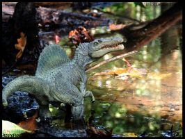 Spinosaurus in the forest by AzureHowlShilach