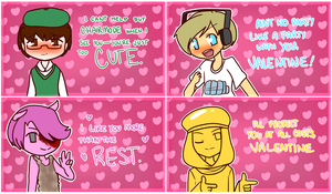 Pewdiepie Valentine's Cards by Jennifer-The-Boulder