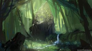 Spitpaint - Forest Monument by abigbat