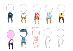 Pokeman outfits by BrokenLawnchair
