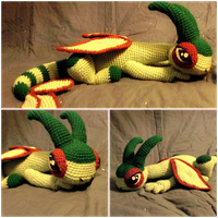 Chrysophylax the Crochet Flygon by ArtisansShadow