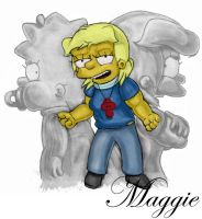 Maggie, Age 1 and Age 13 by simpspin