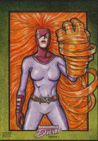 MEDUSA Marvel Dangerous Divas 2  sketch card by JASONS21