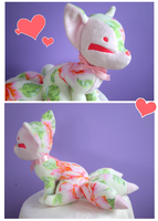 Floral Kitsune Plush by FollyLolly