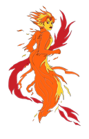Flame Princess by MonocleBunny