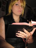Mello and teh Bible XD by CrimzonEchidna