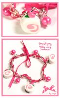 Strawberry Log Bracelet by Tonya-TJPhotography