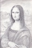 Mona Lisa sketch by dashinvaine