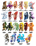 New years chibi commission collection by MTC-Studio