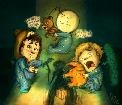 CTK,Cry,Pewds : Among the Sleep by ScribbleNetty