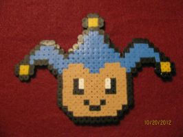 Blue Badger Ace Attorney Bead Sprite by AthenaCykes