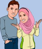 Hakim and Zulaikha Vector Portrait by mohdsyukri83