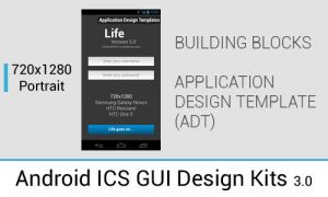 Android 4.0+ ICS/JB GUI Design Kits in PSD by ghost301