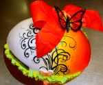 orange easter egg cake by buttercreamfantasies