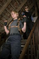 Wesker and Leon by nenco