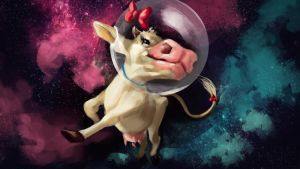 Spacecow for Bitmoo by Gabriela-Birchal